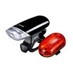 Battery Powered Bike Light Set for Commuting
